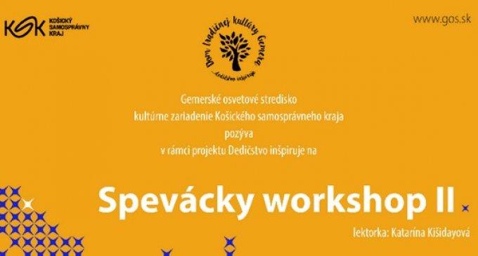 SPEVÁCKY WORKSHOP II.vGemerskom osvetovom stredisku